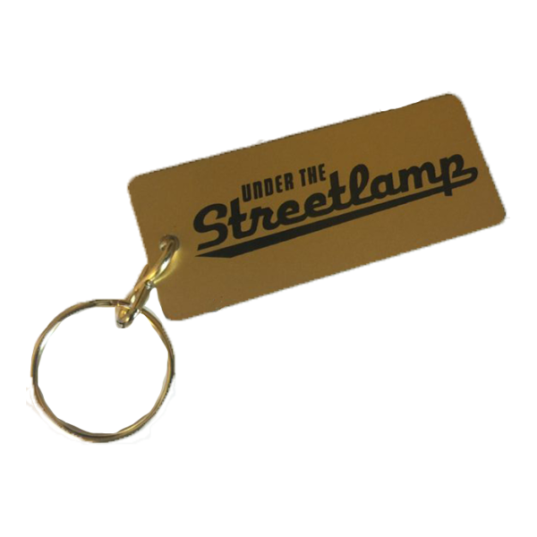 Under the Streetlamp Gold Keychain